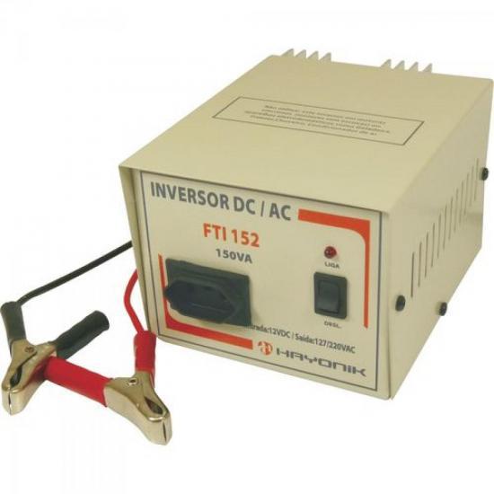 Inversor de Tensão 12V para 110/220V 150VA FTI152 HAYONIK