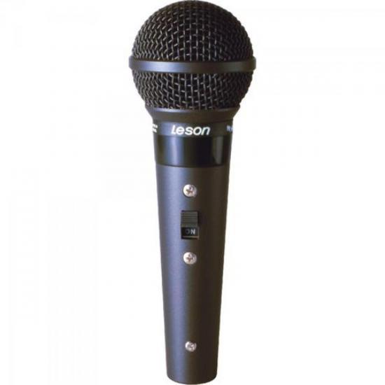 Microfone Profissional Com Fio Cardióide Preto Fosco SM58 B LESON