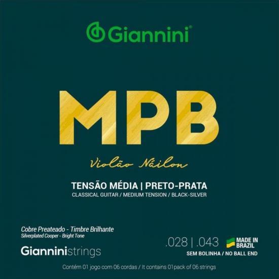Encordoamento Para Violão GENWBS Série MPB Nylon Médio GIANNINI