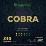 Encordoamento Para Violão 12 Cordas GEE12 Cobra Aço 0.10 GIANNINI