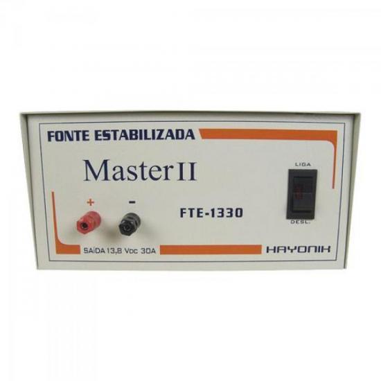Fonte FTE1330 MASTER2 13,8VDC 30A Estabilizada HAYONIK