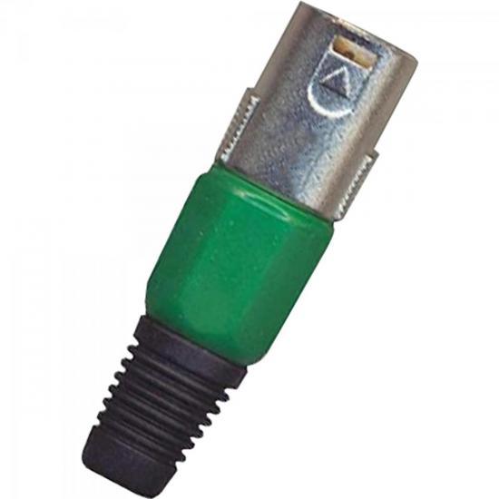Conector Cannon XLR Macho 1/2 Plástico Verde GENÉRICO
