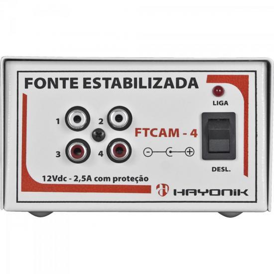 Fonte FTCAM-4 12VDC 2A Para 4 Minicâmeras HAYONIK