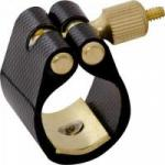 Abraçadeira de Couro Sintético Para Saxofone Tenor com Ressonador BTME-1 Preta FREE SAX