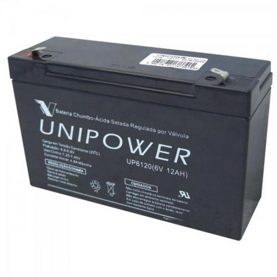 Bateria Selada UP6120 6V/12A UNIPOWER