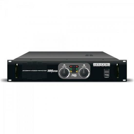 Amplificador Profissional Stereo HY 2500 500W RMS 4 Ohms HAYONIK