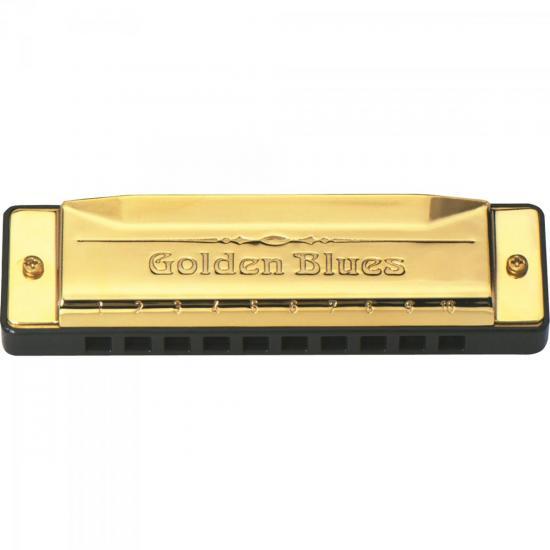 Gaita Diatônica em C 20 Vozes GOLDEN BLUES HERING