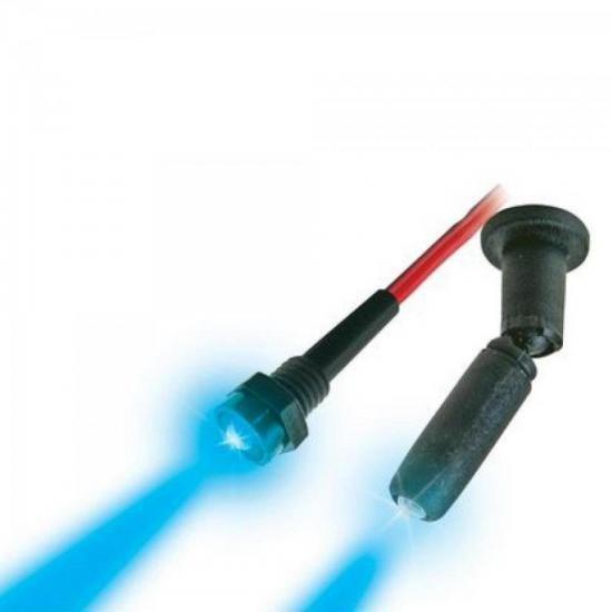 Mini Spot Neon 12V Azul com Rosca DNI