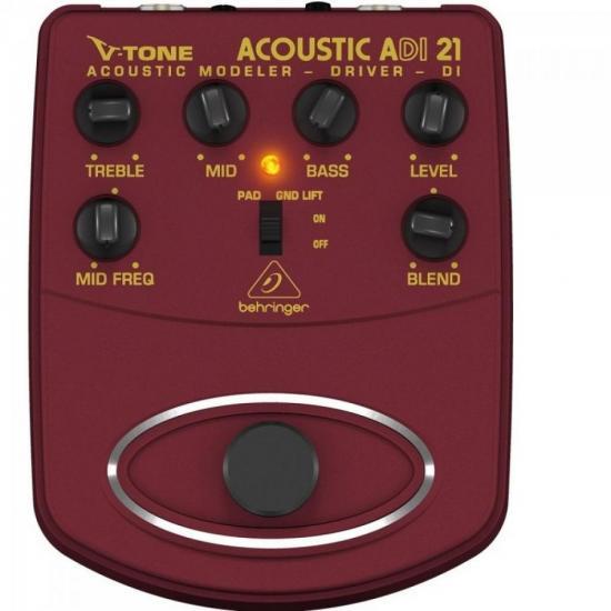Pedal Violão ADI21 Simulador Acustico V-Tone Acoustic com Direct Box BEHRINGER