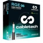 Coaxial RGE 06 60% Branco Rolo 100m CABLETECH