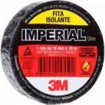 Fita Isolante 18mm x 10m IMPERIAL SLIM Preta 3M