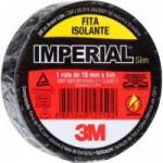 Fita Isolante 18mm x 5m IMPERIAL SLIM Preta 3M