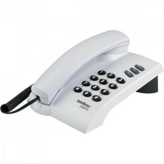 Telefone com Fio Pleno sem Chave Cinza Ártico INTELBRAS