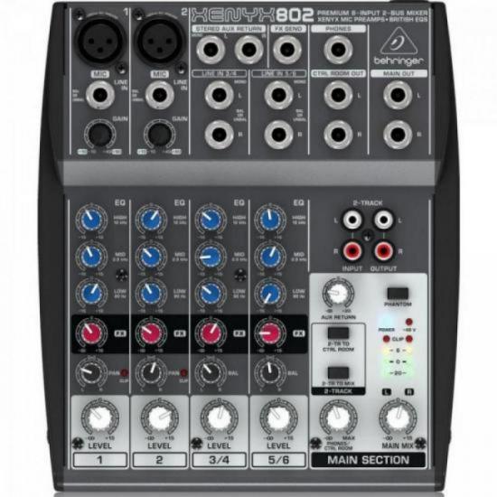 Mixer 8 Canais XENYX 802 BEHRINGER