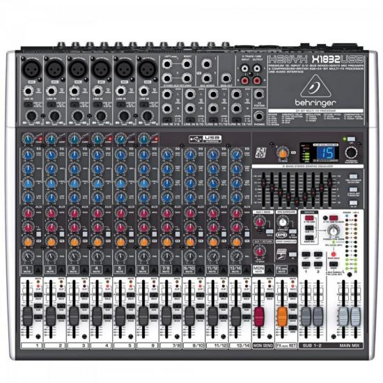 Mixer Xenyx X1832USB 18 Canais BEHRINGER
