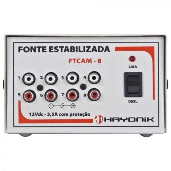 Fonte Para Minicâmeras FTCAM-8 12VDC 3,5A HAYONIK