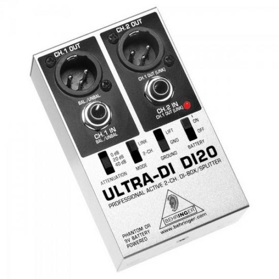 Direct Box Spliter Profissional DI20 BEHRINGER