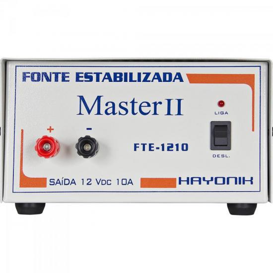 Fonte Estabilizada 12VDC 10A MASTER II FTE-1210 HAYONIK