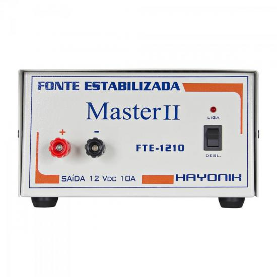 Fonte FTE1205 MASTER 12VDC 5A Estabilizada Bornes HAYONIK