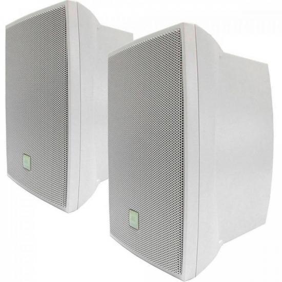 Par de Caixa Acústica Som Ambiente 50W C621B Branca JBL