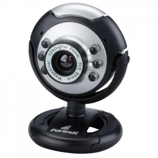 Webcam EC-204 1.3MP com Microfone FORTREK