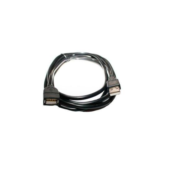 Cabo USB2.0 A Macho + A Fêmea 1,8 Metros Preto PLUS CABLE