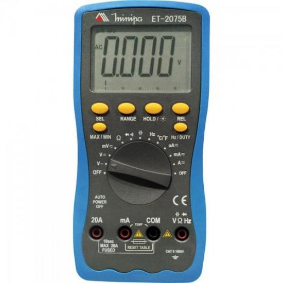 Multímetro Digital ET-2075B MINIPA