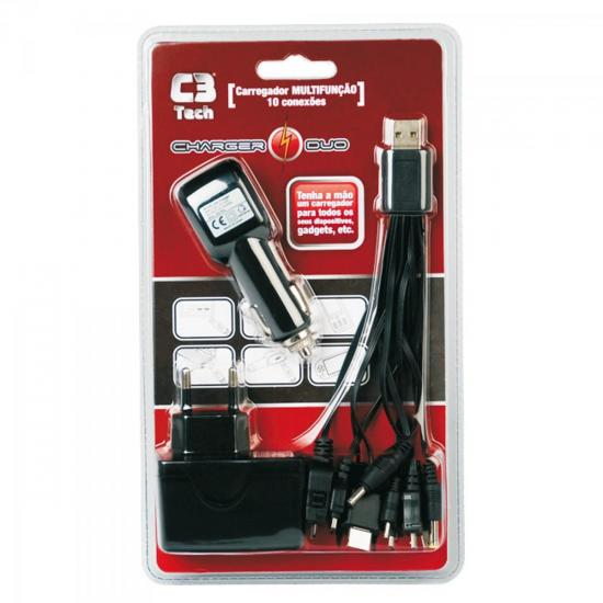 Carregador Multifuncional USB Bivolt UC200 Charger DUO C3 TECH