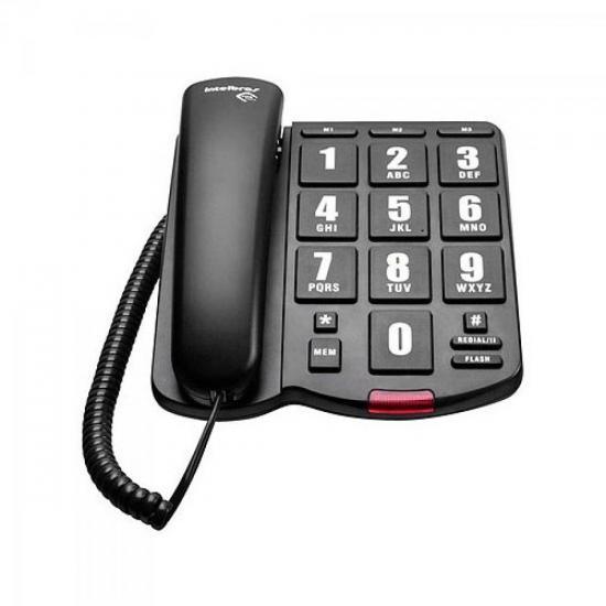 Telefone Tok Fácil Preto INTELBRAS