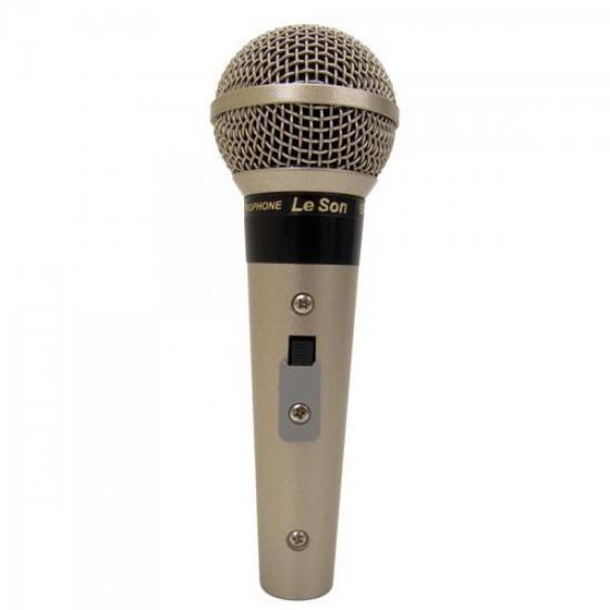 Microfone Profissional Com Fio Cardióide Champanhe SM58B LESON