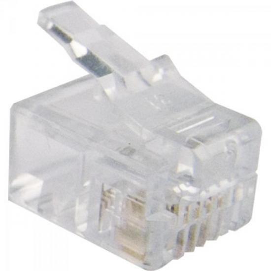 Conector para Telefone RJ11 6x4 4 Vias 6P4C GENÉRICO