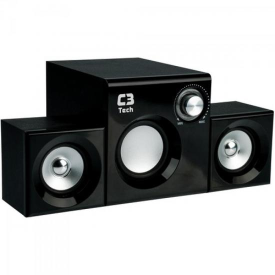 Caixa Multimídia 2.1 com Subwoofer 8W SP222BS Preto C3 TECH
