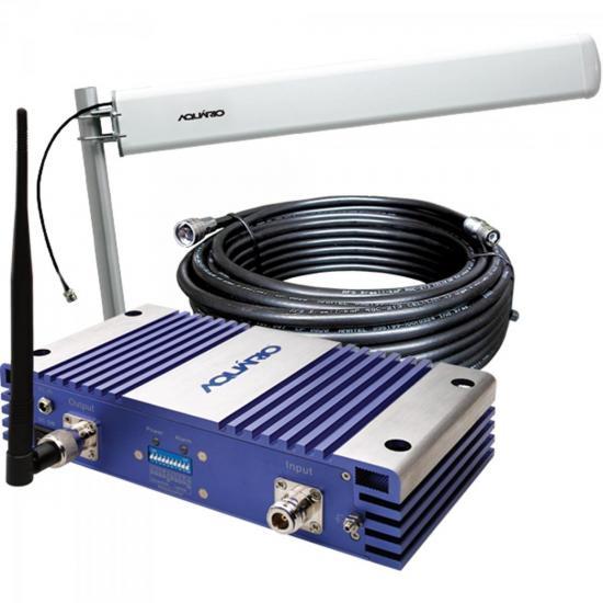 Repetidor de Celular 1800MHz RP1870 Prata/Azul AQUÁRIO