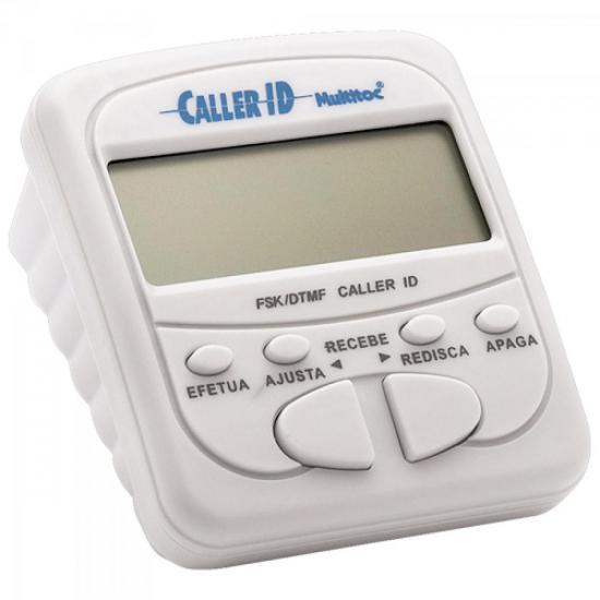 Identificador de Chamadas Compacto MUID0010 Branco MULTITOC
