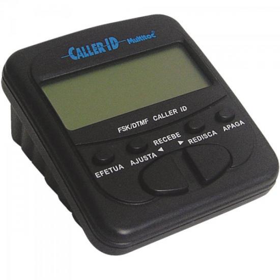 Identificador de Chamadas Compacto MUID0030 Preto MULTITOC
