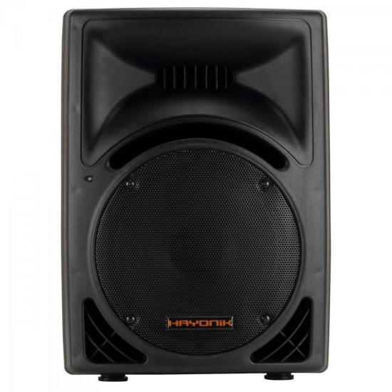 Caixa Acústica Ativa 200W USB/FM HUNTER 2000A Preta HAYONIK