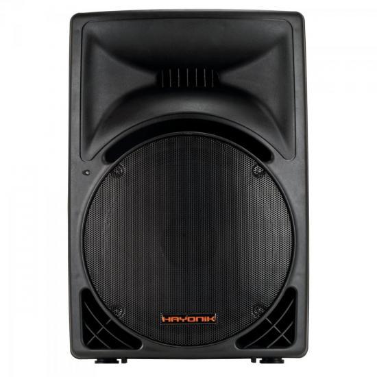 Caixa Acústica Ativa 300W USB/FM HUNTER 3000A Preta HAYONIK