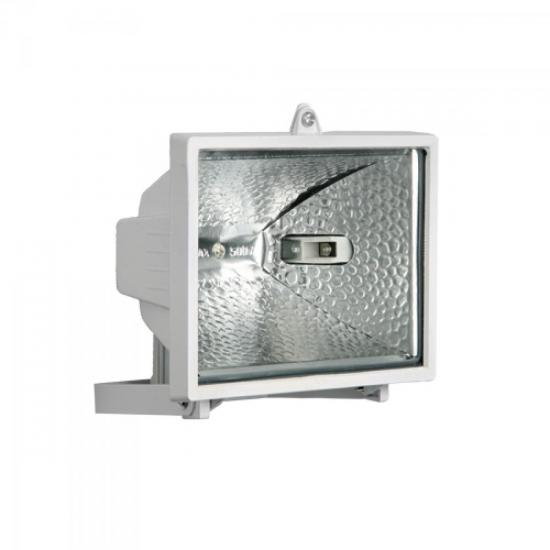 Refletor sem Sensor para Lâmpada Halógena 300W Branco BRASFORT