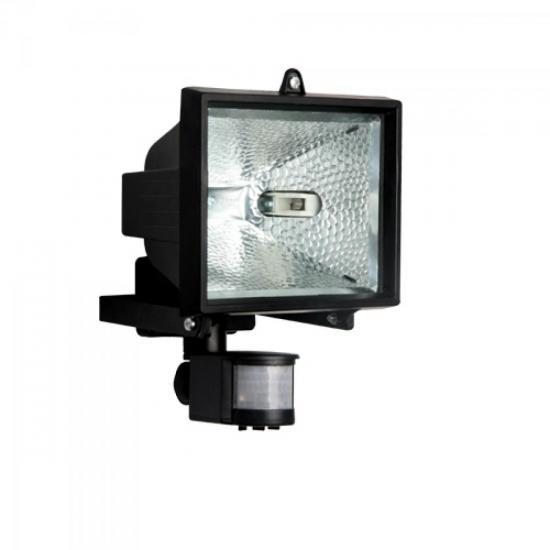 Refletor com Sensor 500W Preto BRASFORT