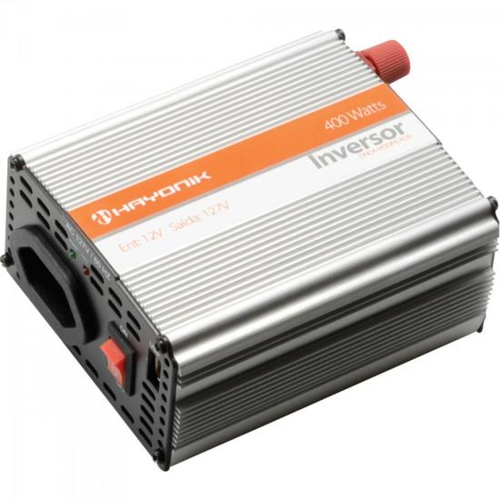 Inversor Onda Modificada 12VDC/127V USB 400W HAYONIK