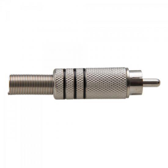 Plug RCA Niquelado C/Mola 3FX 5,8mm GENÉRICO