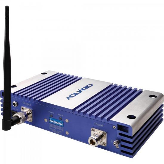 Repetidor de Sinal Celular 800mHz RP870 Prata/Azul AQUÁRIO