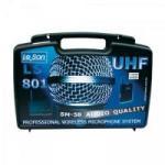 Microfone Sem Fio LS801LT UHF SM58 LESON