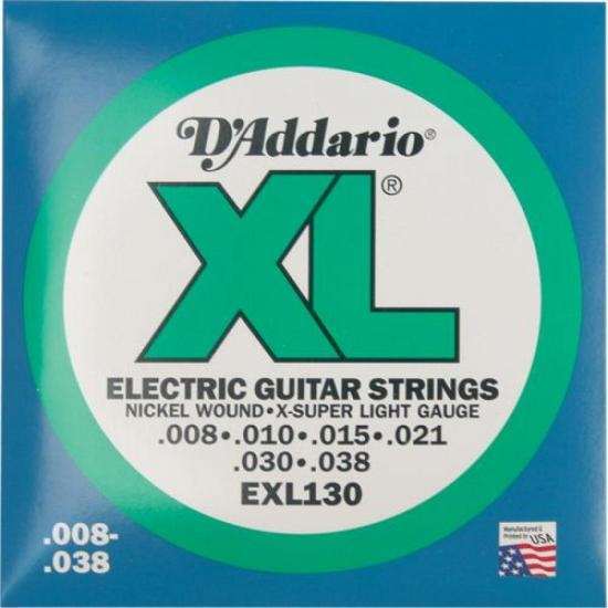 Encordoamento Para Guitarra EXL130 0.08 D`ADDARIO