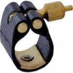 Abraçadeira de Couro Sintético Para Saxofone Alto com Ressonador BAMA-1 Preta FREE SAX