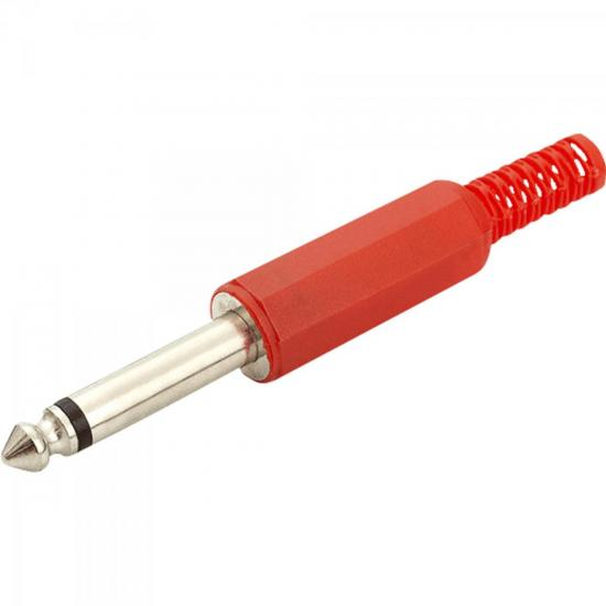 Plug P10 Mono 141014 Vermelho GENÉRICO