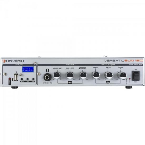 Amplificador 100W VERSATIL SLIM 120 Prata HAYONIK