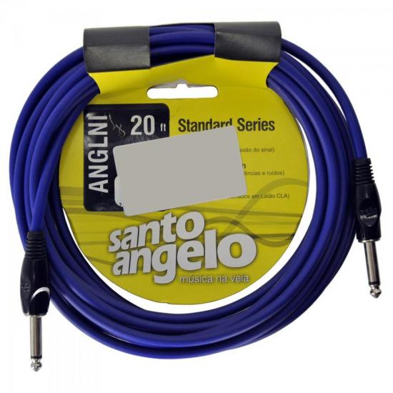 Cabo Para Instrumentos P10 ANGL NI 4,57m Azul SANTO ANGELO