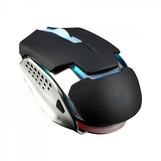 Mouse Gamer Laser USB 5000DPI Zealot Preto TEAM SCORPION