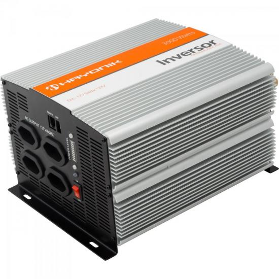 Inversor de Onda Modificada 12VDC/127V USB 3000W HAYONIK